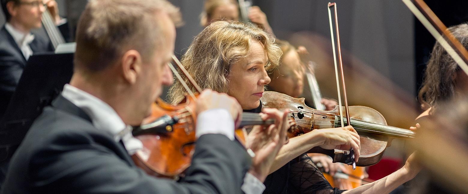 Uppsala Kammarorkesters stråkar