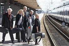 Uppsala Kammarsolister vid järnvägsstationen i Uppsala