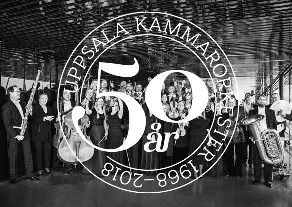 Uppsala Kammarorkesters jubileumslogga