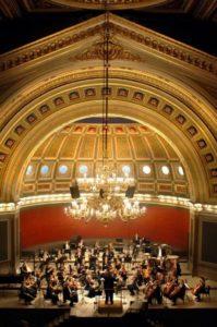 Uppsala Kammarorkester i universititetets aula