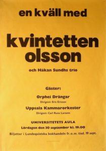 Affisch Kvintetten Olsson