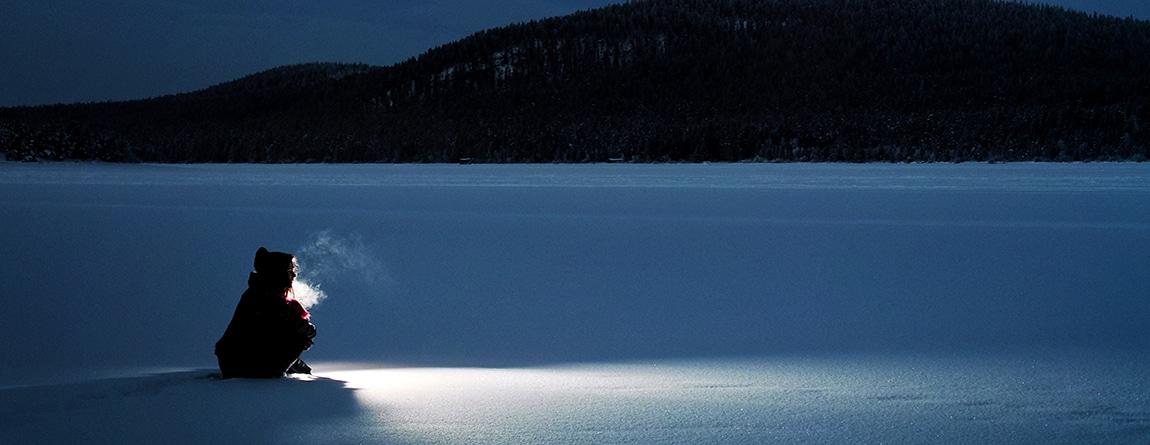 Norrländsk snölandskap