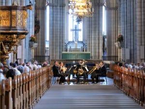 Linnékvintetten spelar i Uppsala domkyrkan