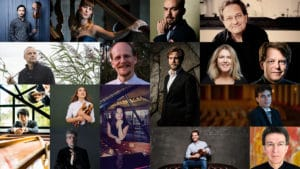 Kollage med solister och dirigenter till Uppsala Kammarorkesters säsong 19/20