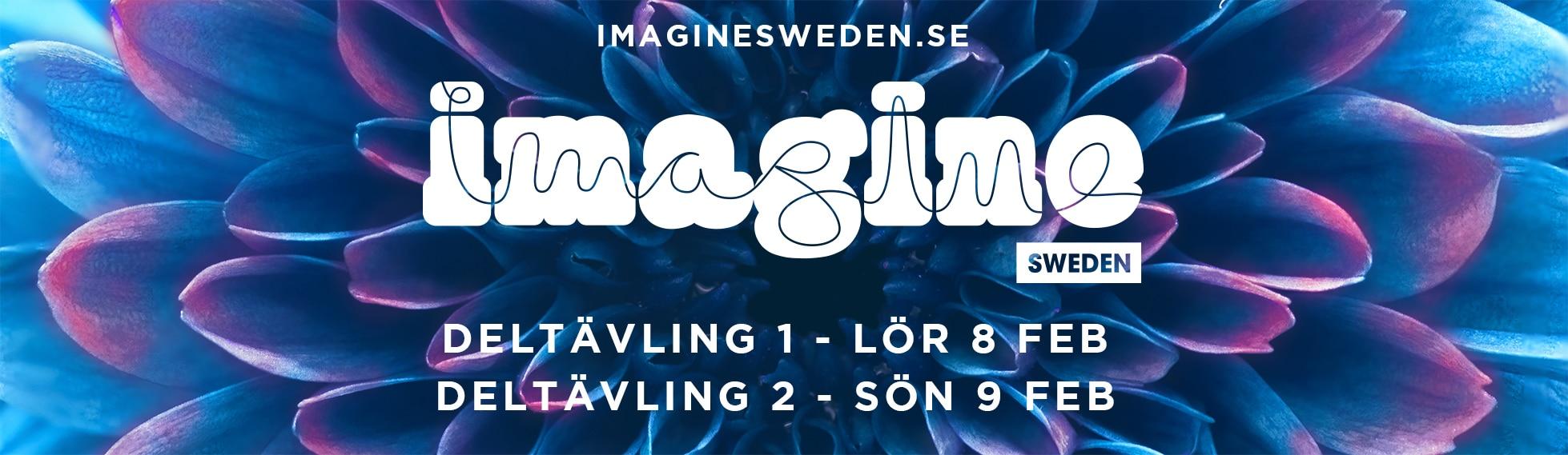 Bild med musiktävlingen Imagines logga och information om datum för deltävlingar